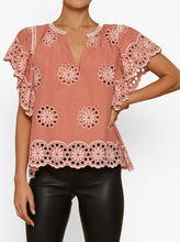 Load image into Gallery viewer, She's With Me Short Sleeve Peasant Top