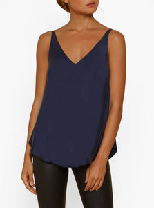 Luxe Leg Silk Double V Bias Cut Cami