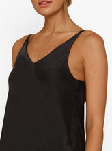 Load image into Gallery viewer, Luxe Leg Silk Double V Bias Cut Cami