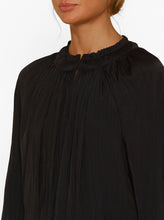 Load image into Gallery viewer, Look Twice High Neck L/S Pleat Blouse