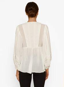 Moondust Lace Insert L/S Blouse