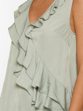 Load image into Gallery viewer, Look Twice Ruffle Asymmetric Tank