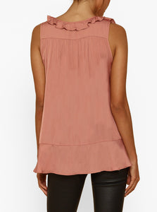 Look Twice Ruffle Asymmetric Tank