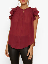 Load image into Gallery viewer, Always Been Sleeveless Ruffle Top