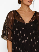 Load image into Gallery viewer, All For You Silk Ruffle Short Sleeve Top W Cami