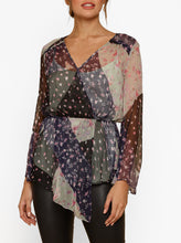 Load image into Gallery viewer, Always Perfect Silk Asymmetric L/S Blouse W Cami