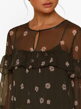Load image into Gallery viewer, All For You Silk L/S Blouse W Cami