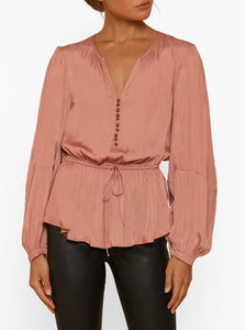 Look Twice Button Up L/S Blouse