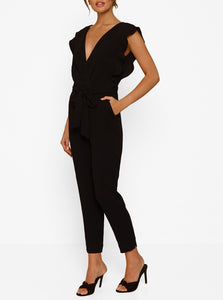 Borderline V-Neck Jumpsuit