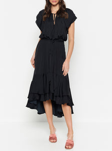 Look Twice Double Ruffle Midi Dress