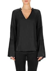 Look Twice Sunray Pleat Blouse