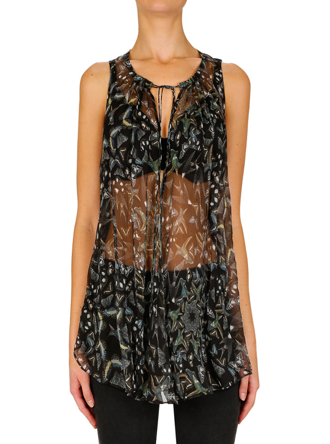 Metamorphosis Silk Sleeveless Top