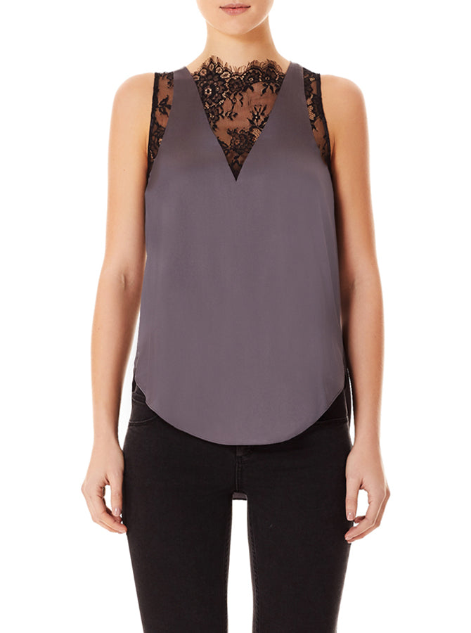 Needed Silk Lace Tank