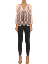 Load image into Gallery viewer, Night Beats Silk Blouse
