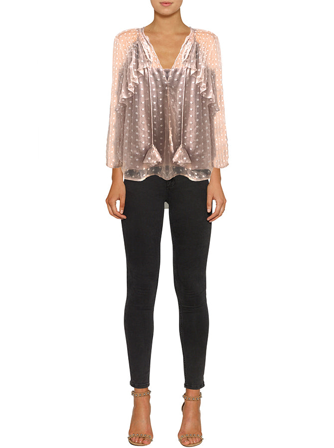Night Beats Silk Blouse