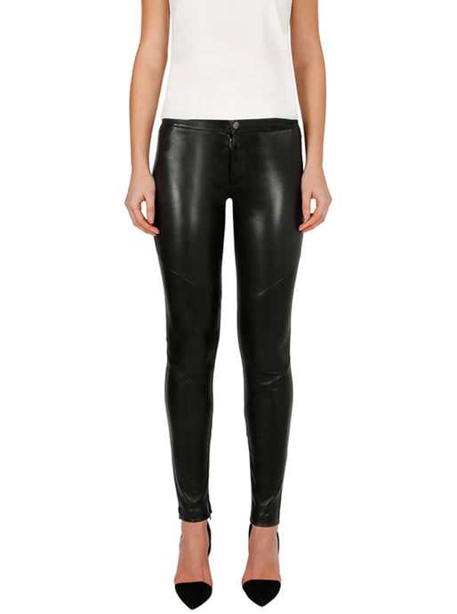 Pure Iconic Leather Skinny Ponte Pant