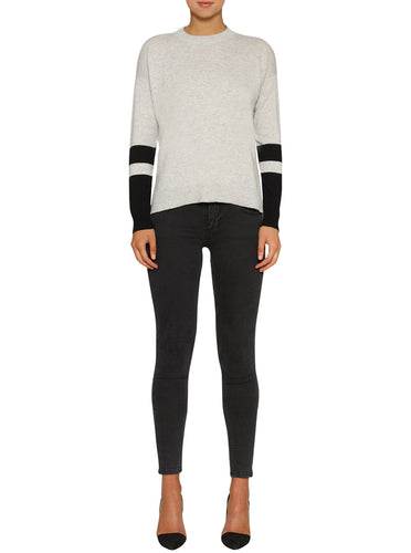 Superluxe Cashmere Contrast Sleeve Sweater