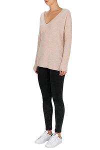 Superluxe Cashmere Oversized V Neck Sweater