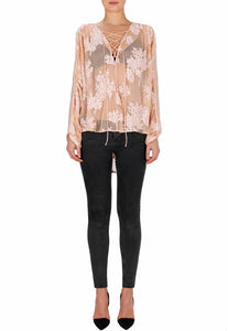 Sweet Surrender Silk Batwing Blouse
