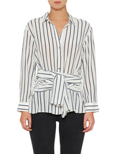 Load image into Gallery viewer, The Right Stripe Silk Tie Shirt