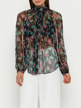 Load image into Gallery viewer, The Real You Silk Balloon Sleeve Blouse