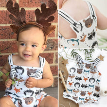 Load image into Gallery viewer, Sleeveless Cartoon Animal Jumpsuit