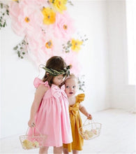 Load image into Gallery viewer, Sleeveless Ruffle Bowknot Dress