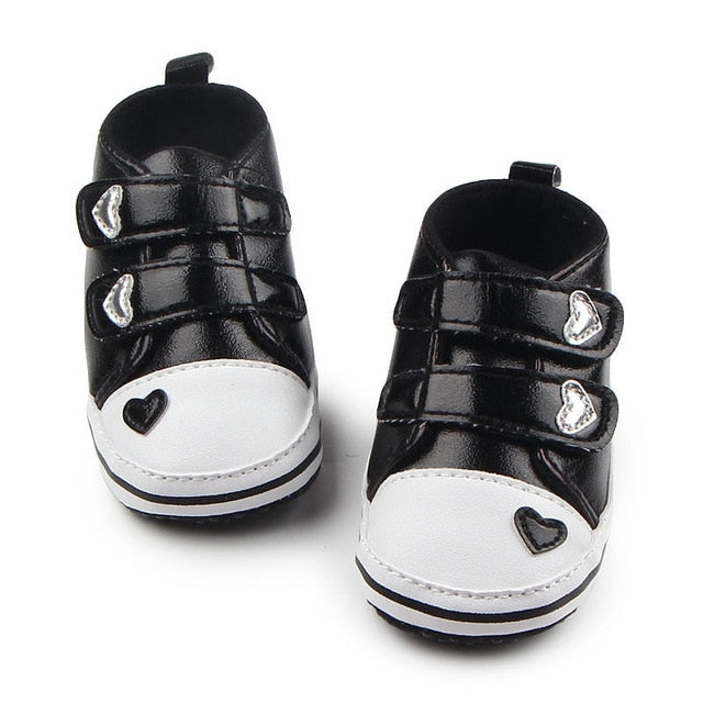 Heart-shaped Leather First Walkers