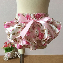 Load image into Gallery viewer, Floral Silk Bow Satin Shorts