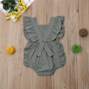 Sleeveless Backless Romper