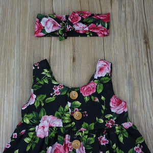 Autumn Button Floral Dress