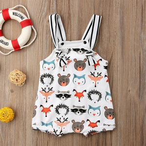 Sleeveless Cartoon Animal Jumpsuit