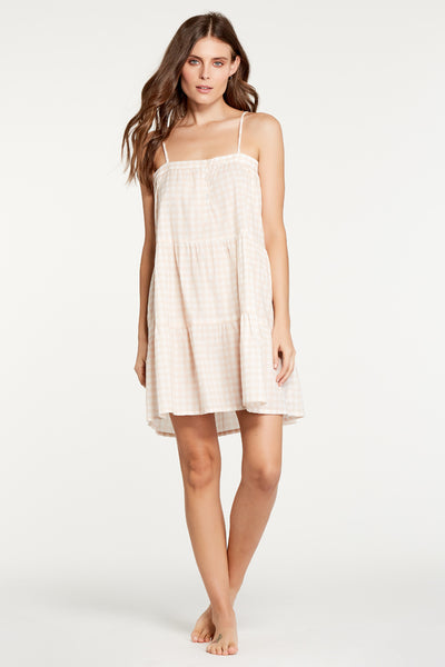 Annie Dress - Blush Gingham
