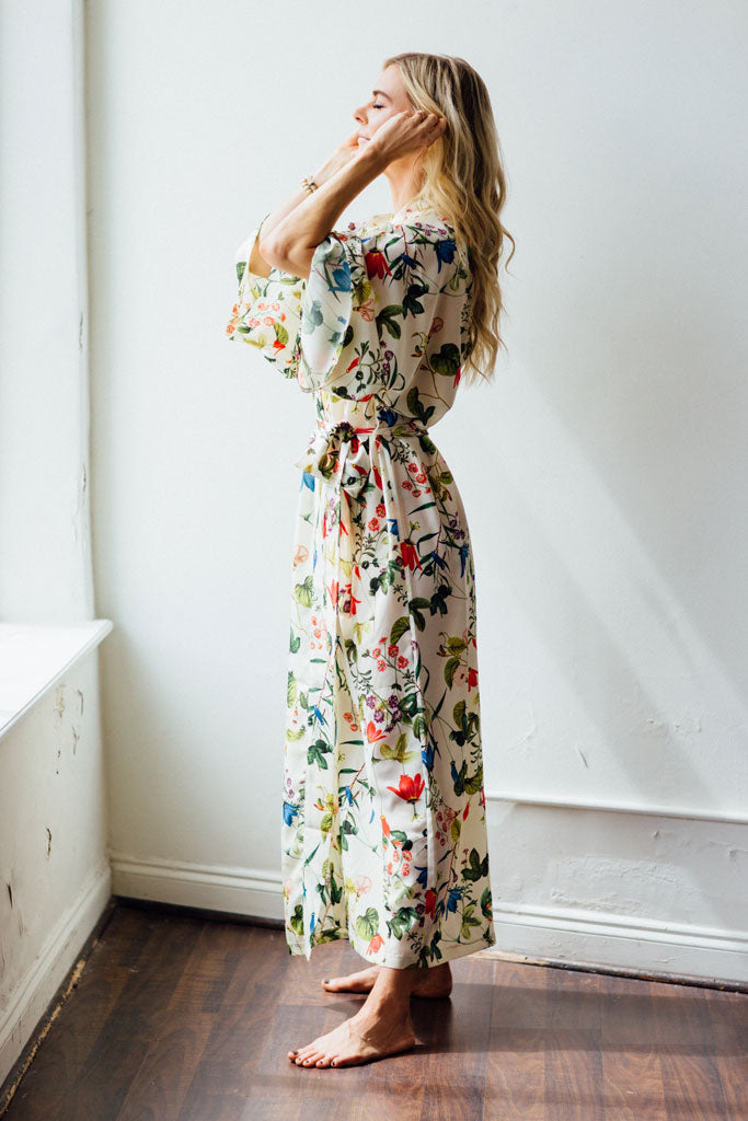 Audrey Robe - Ivory Floral