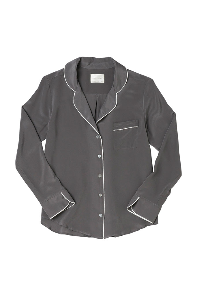 Bardot Blouse - Charcoal