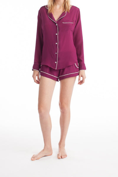 Bardot Blouse - Berry