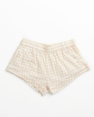 Belle Short - Blush Gingham