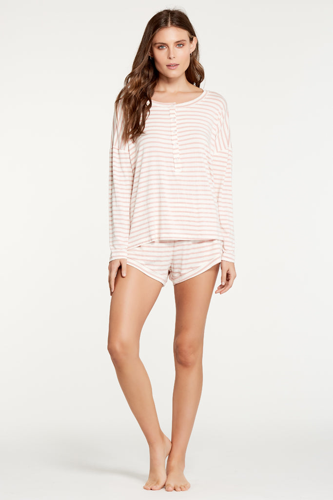 Courtney Top - Rose Stripe