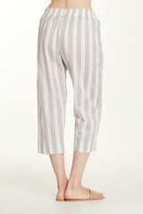 Capri Bottoms - Grey Stripe