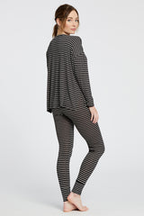 Courtney Top - Black/White Stripe