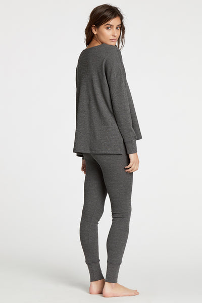 Courtney Thermal Top - Charcoal