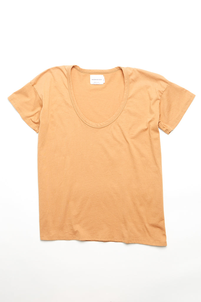 Drop Neck Top - Nude