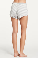 Elody Short - Heather Grey Stripe