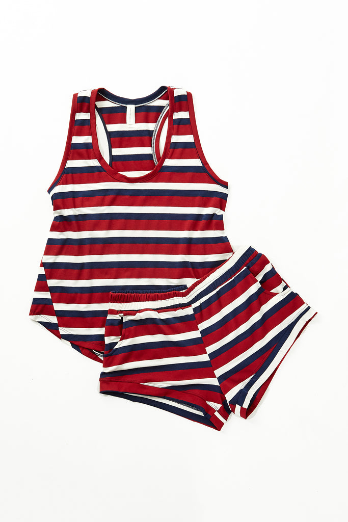 Elody Short - Brick Stripe