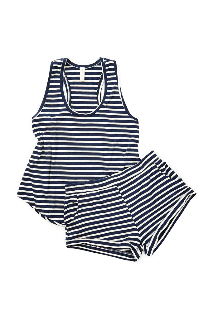 Elody Short - Navy Stripe