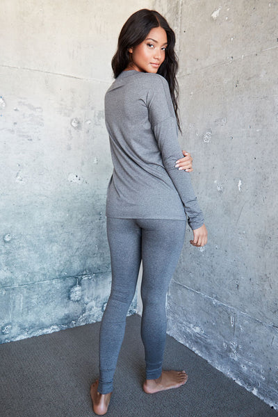 Madrid Legging - Med Heather Grey