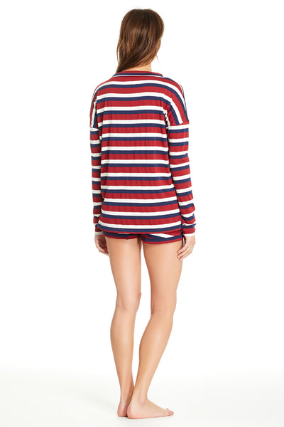 Edith Top - Brick Stripe