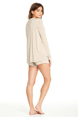 Edith Top - Camel Stripe
