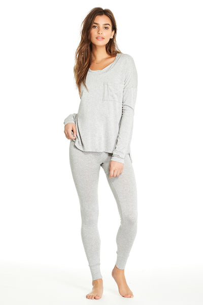 Edith Top - Heather Grey