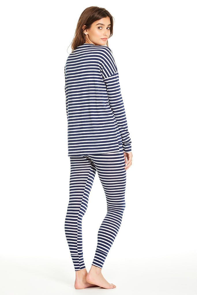 Edith Top - Navy Stripe